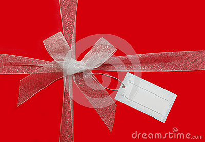 Ribbon bow and gift card