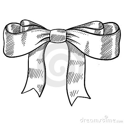 Ribbon and bow sketch