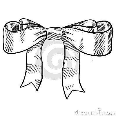 Ribbon and bow sketch