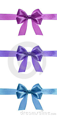 Free Ribbon Bows Royalty Free Stock Photography - 10150857
