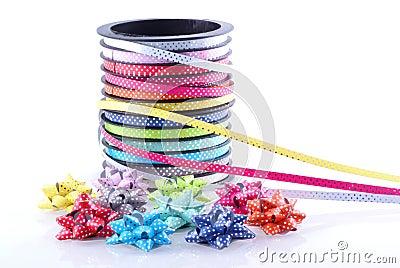 Ribbon and bows.