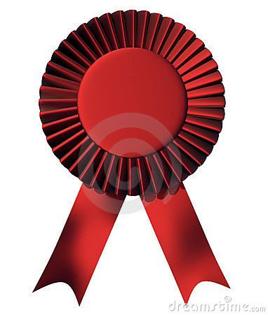1st Place Ribbon Stock Photos  First Place Ribbon Red