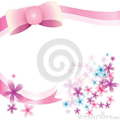Ribbon and Florist Background