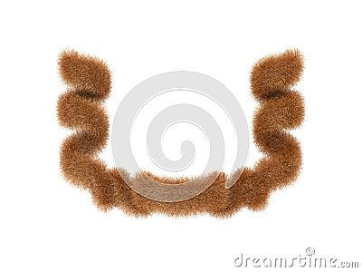 Ribbon from fur