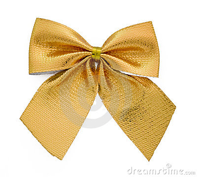 Free Ribbon Gift Gold Bow Stock Photo - 3706920