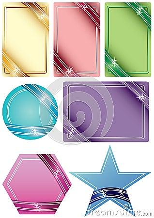 Ribbon Shape Card_eps