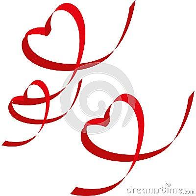 Ribbon-shaped heart