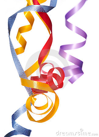 Free Ribbon Streamers Royalty Free Stock Photos - 5270818