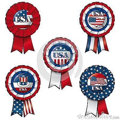 Free Ribbon USA Royalty Free Stock Photos - 41497998