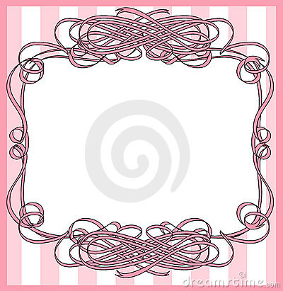 Ribbon wrapped frame