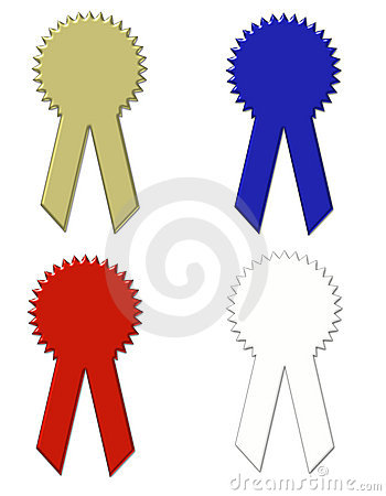 Ribbons - Awards - Clip Art with Working Paths