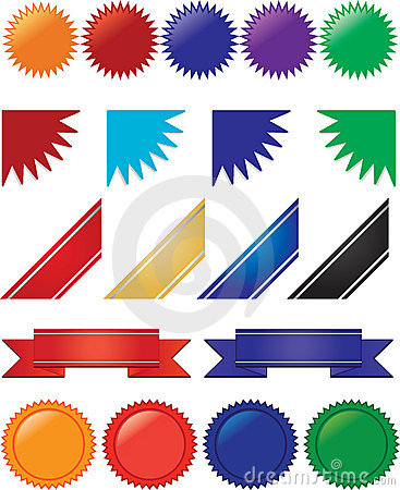 Ribbons, banners and bursts collection