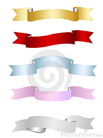 Ribbons, banners collection