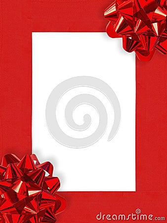 Free Ribbons&Bows Christmas Frame Royalty Free Stock Photos - 1479268