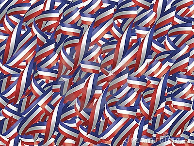 Ribbons in Red, White, and Blue
