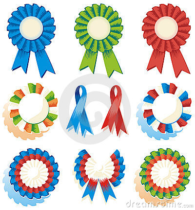 Ribbons, rosettes, awards