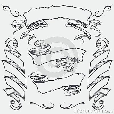 Free Ribbons Set 01 Royalty Free Stock Image - 36325676