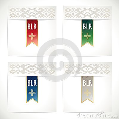 Ribbons set  in the traditional colors of Belarus