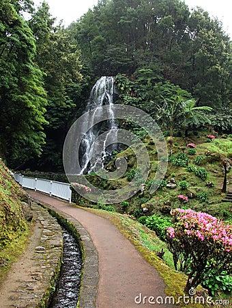 Ribeira dos Caldeiroes in San Miguel island, Azores