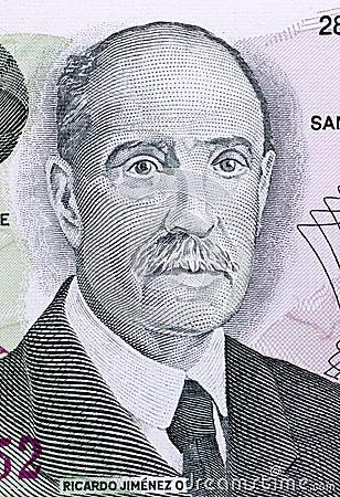 Ricardo Jimenez Oreamuno Editorial Stock Image