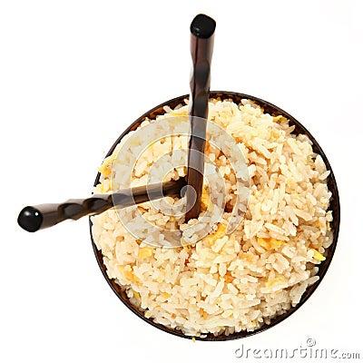 Rice Bowl with Vertical Chopsticks
