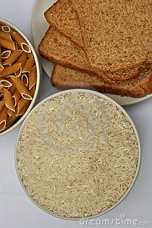 Free Rice, Bread And Pasta Royalty Free Stock Photo - 16184375