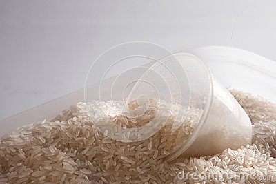 Rice in container