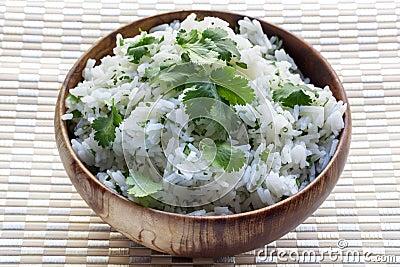 Rice with Coriander or Cilantro