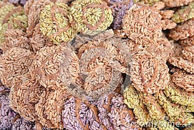 The Rice Cracker in Thailand style dessert