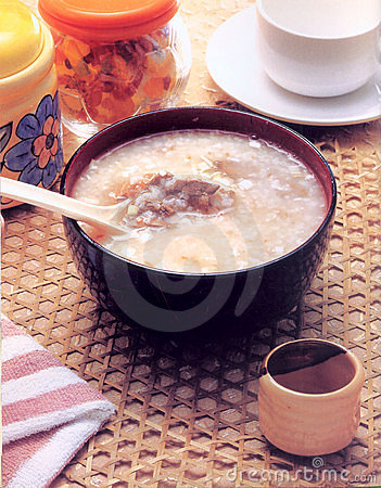 Rice gruel of china