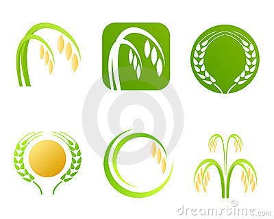 Rice industry logo and symbols