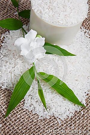 Rice on Jute Sack 2