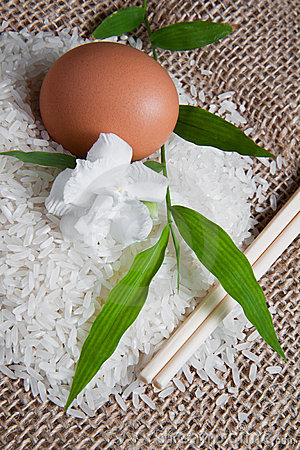Rice on Jute Sack 3