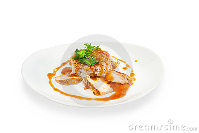 Rice with meat with sauce
