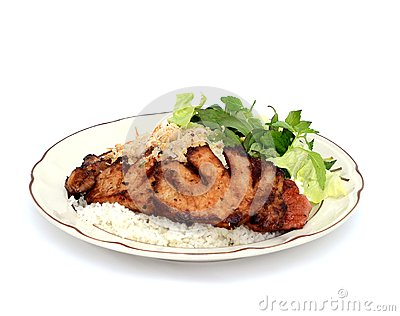 A rice plate meal