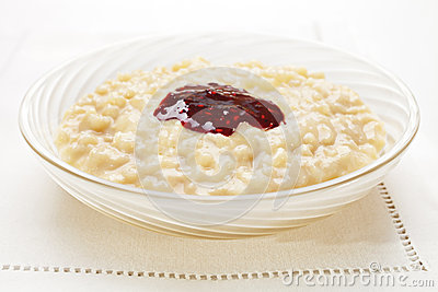 Rice Pudding with Jam