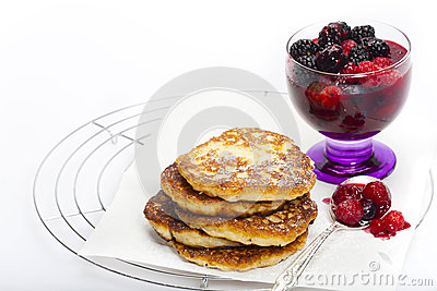 Rice pudding pancake