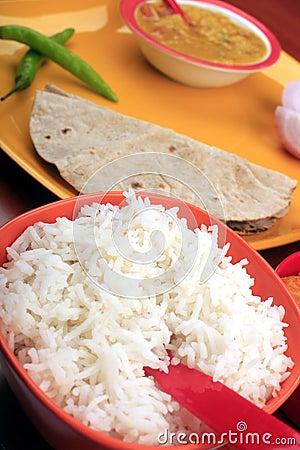 Rice and roti