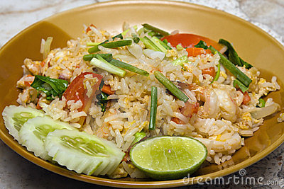 Rice with seafood. Asian food.