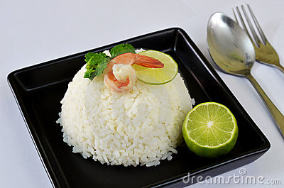 Rice and shrimp