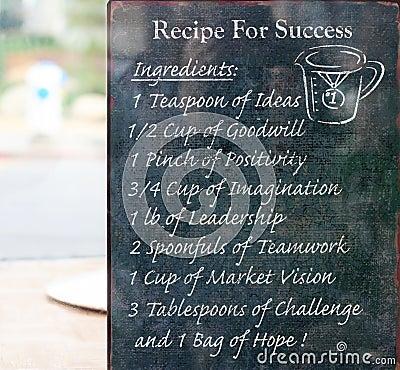 Ricetta per successo