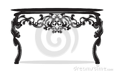Rich Baroque commode Table Vector Illustration