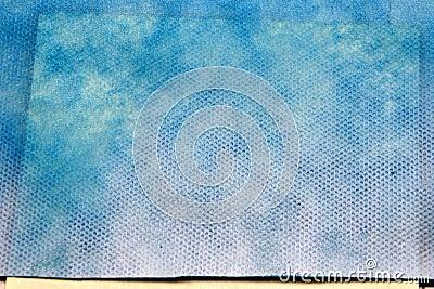 Rich-blue nano-textile with pattern