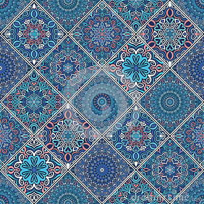 Free Rich Blue Tile Ornament Royalty Free Stock Photos - 71198698