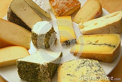 Rich cheese platter