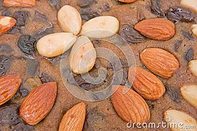 Rich fruit cake: surface texture.