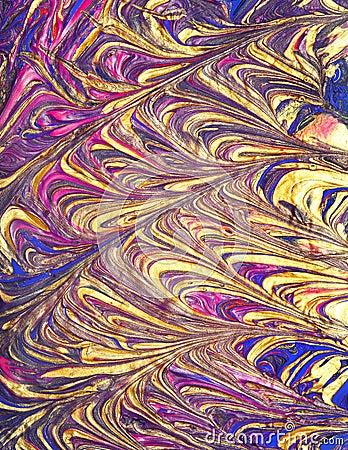 Rich golden abstract design
