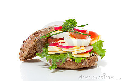A rich healthy brown sandwich