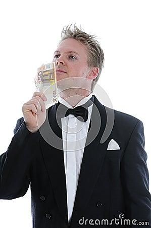 Rich man in dinner jacket
