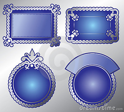 Rich ornate label. Vector, editable